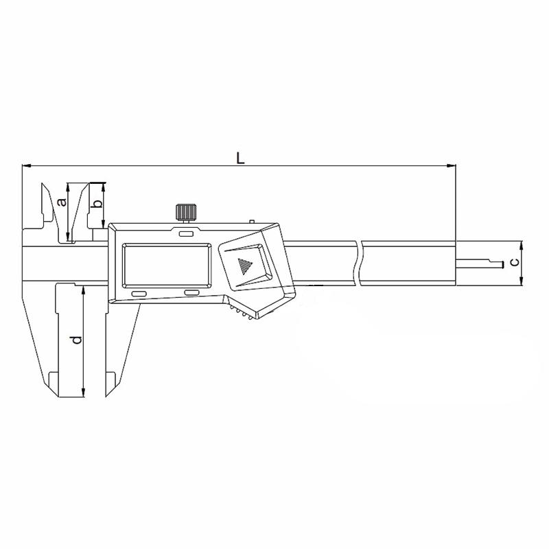 insize digital caliper with round depth bar